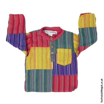 Kids-Patchwork-Festival-Collarless-Grandad-Shirt