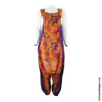 Lightweight-Harem-Festival-Dungarees-Orange