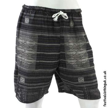 Long-Black-Cotton-Festival-Shorts