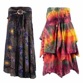 Long Skirts with Elastic Waist