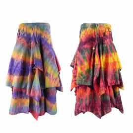 Long Tie Dye Skirts