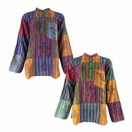 Nepalese Patchwork Grandad Shirts