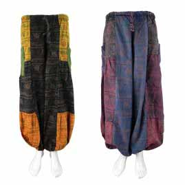 Om Patchwork Trousers