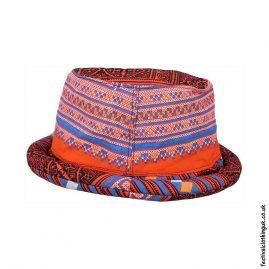 Orange-Multicoloured-Rimmed-Festival-Hat