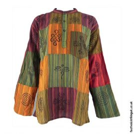 Patchwork-Festival-Collarless-Grandad-Shirt