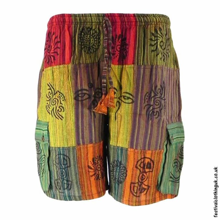 Patchwork-Festival-Shorts-with-Printed-Artwork