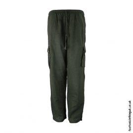 Plain Festival Cargo Trousers Dark Green
