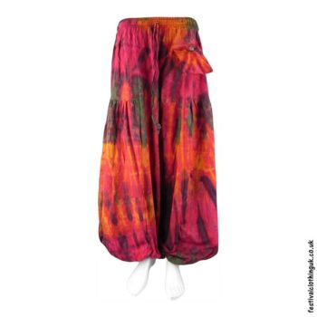 Red-Tie-Dye-Baggy-Cotton-Festival-Trousers