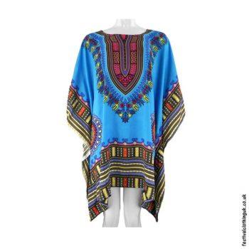 Short-Rayon-Dashiki-Festival-Kaftan-Turquoise