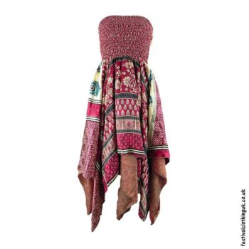 Burgundy-Pixie-Hem-2-in-1-Recycled-Sari-Festival-Dress