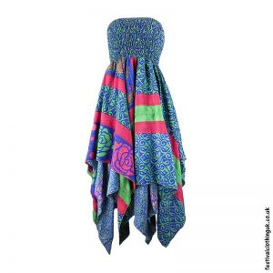 Green-Blue-Pixie-Hem-2-in-1-Recycled-Sari-Festival-Dress