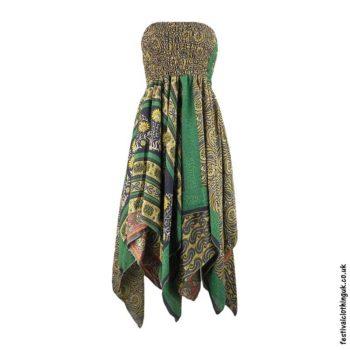 Green-Pixie-Hem-2-in-1-Recycled-Sari-Festival-Dress