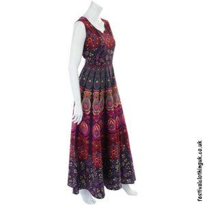 Long Cotton Throw Maxi Dress Pink