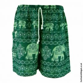 Male-Elephant-Festival-Long-Shorts-Green