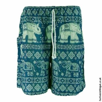 Male-Elephant-Festival-Long-Shorts-Teal