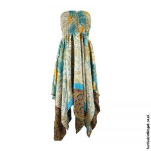 Mixed-Colour-Pixie-Hem-2-in-1-Recycled-Sari-Festival-Dress