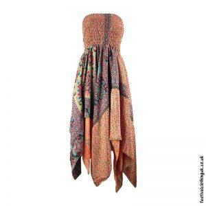 Peach-Pixie-Hem-2-in-1-Recycled-Sari-Festival-Dress