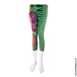 Short-Multicoloured-Tie-Dye-Festival-Leggings