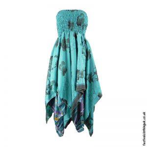 Turquoise-Pixie-Hem-2-in-1-Recycled-Sari-Festival-Dress