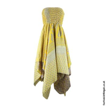 Yellow-Pixie-Hem-2-in-1-Recycled-Sari-Festival-Dress