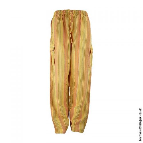 Festival-Cargo-Trousers-Striped-Yellow-New