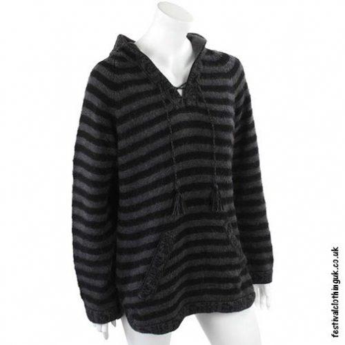 Hooded-Alpaca-Wool-Festival-Jumper-Black-&-Dark-Grey