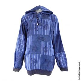 Hooded-Patchwork-Festival-Top-Blue