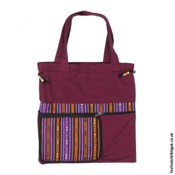 Re-usable-Fold-Out-Shopping-Bag-Burgundy