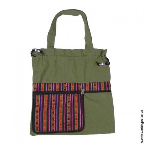 Re-usable-Fold-Out-Shopping-Bag-Green