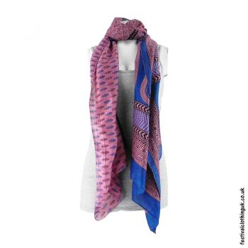 Recycled-Indian-Sari-Festival-Scarf-Pink-Blue