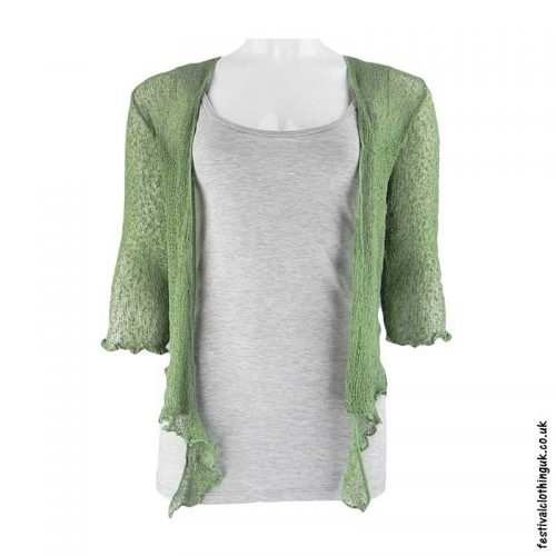 Single-Knit-Bali-Festival-Shrug-Green