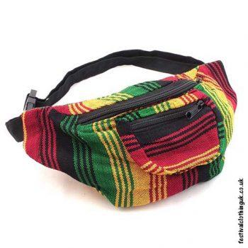 Striped-Rasta-Design-Festival-Hip-Bag