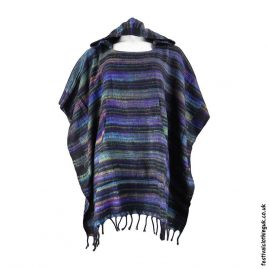 Multicoloured-Soft-Acrylic-Hooded-Festival-Poncho