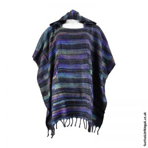 Multicoloured-Soft-Acrylic-Hooded-Festival-Poncho