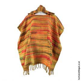 Orange-Soft-Acrylic-Hooded-Festival-Poncho