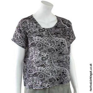 Black-White-Batik-Patterned-Paisley-Blouse