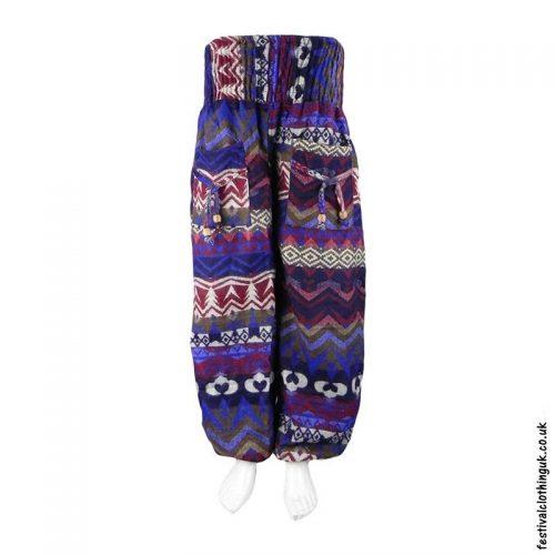 Blue-Multicoloured-Acrylic-Festival-Trousers