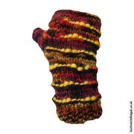 Festival-Wool-Wrist-Warmer-Tube-Gloves-Rust