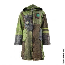 Long-Patchwork-Fleece-Lined-Festival-Jacket-Green