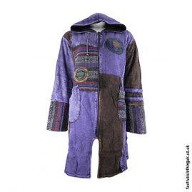 Long-Patchwork-Fleece-Lined-Festival-Jacket-Purple