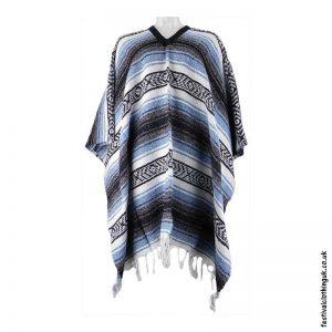 Mexican-Poncho-Blue