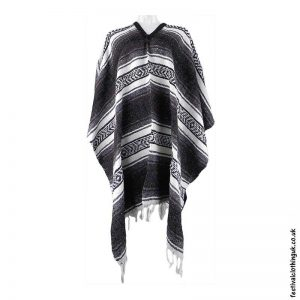 Mexican-Poncho-Grey-Brown