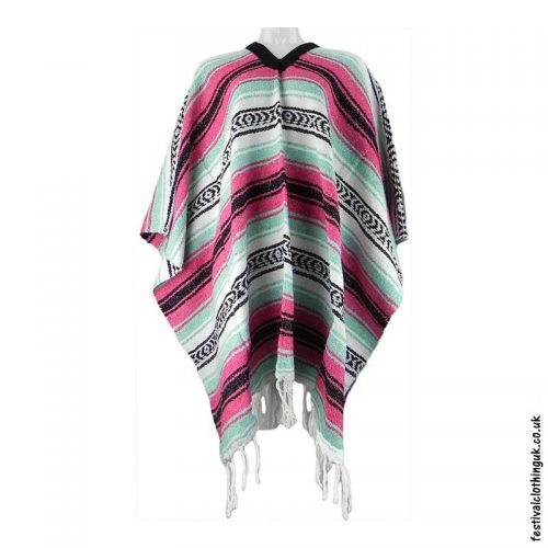 Mexican-Poncho-Pink