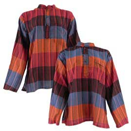 Multi Striped Grandad Shirts