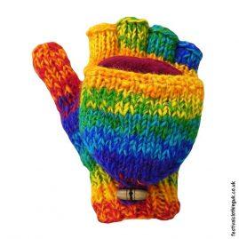 Rainbow-2-in-1-Fingerless-Mitten-Wool-Gloves