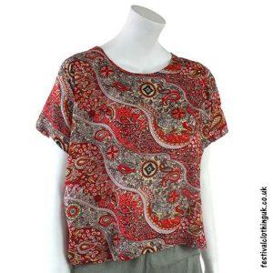 Red-Batik-Patterned-Paisley-BlouseRed-Batik-Patterned-Paisley-Blouse