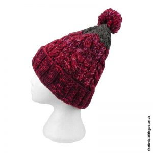 Red-Wool-Bobble-Hat