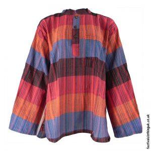 Striped-Multicoloured-Festival-Grandad-Shirt