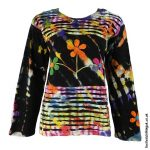 Black-Long-Sleeve-Flower-Festival-Top