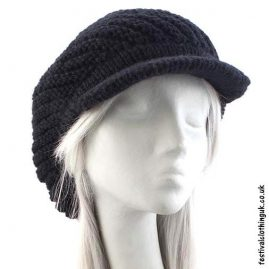 Black-Peaked-Wool-Hat